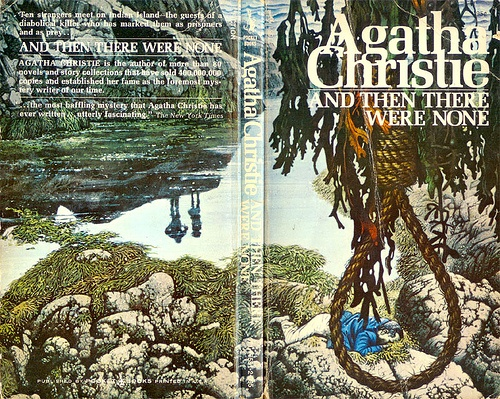 And Then There Were None (Pocket) 1973 AUTHOR: Agatha Christie ARTIST: Tom Adams by Hang Fire Books, via Flickr