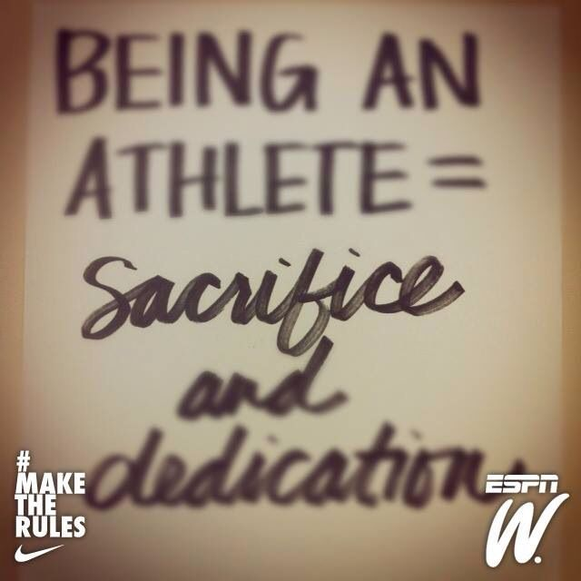 """being an athlete is an accomplishment Say the word """"athlete"""" and most people will conjure up an image of a male athlete normally in their favorite sport, but there are hundreds are amazing women in the athletics world as well."""
