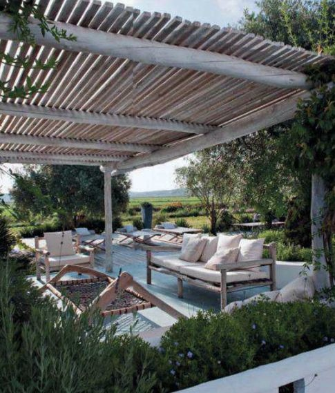 I love a great patio cover, and comfy looking patio with a view!!!