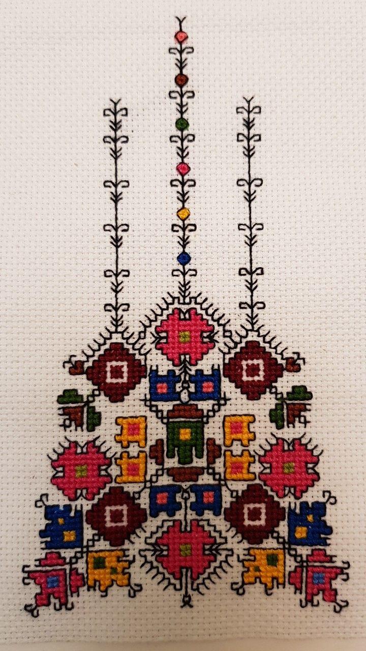 """Bulgarian embroidery. Схемата, по която ших шевицата, съм взела от от книгата на Катя Матрова """"Българска везба""""."""