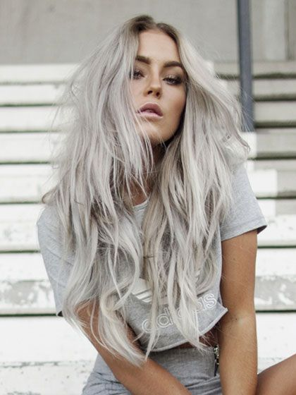 Celebrity Beauty Trends - Gray hair trend:  #GrannyHair -- Women of all ages…