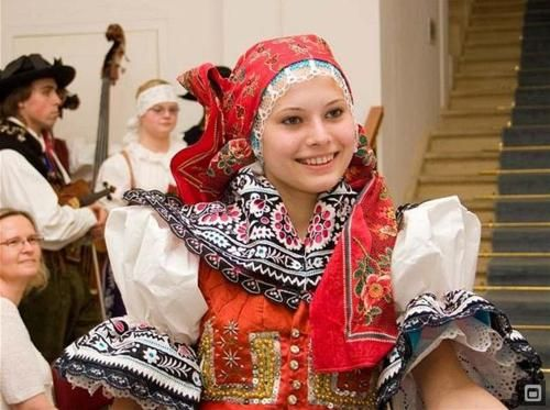Czech dancer in traditional costume
