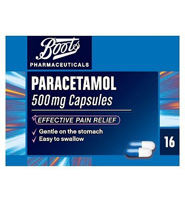 Boots Pharmaceuticals Boots Paracetamol 500mg Capsules - 16 Capsules 4 Advantage card points. Boots Paracetamol 500mg Capsules for effective pain relief. Gentle on the stomach, easy to swallow. Suitable for: Adults and Children over 12 years.Active Ingredient: Paraceta http://www.MightGet.com/april-2017-1/boots-pharmaceuticals-boots-paracetamol-500mg-capsules--16-capsules.asp