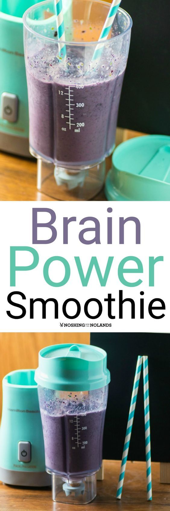 Brain Power Smoothie by Noshing With The Nolands not only tastes fabulous but is loaded with brain enhancing ingredients! #ad