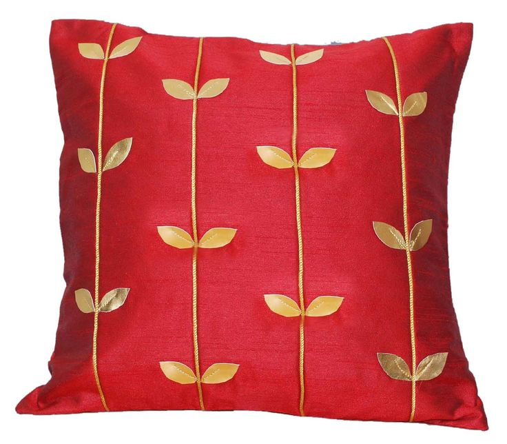 red throw pillow gold throw pillow decorative throw pillow cushion cover leaf cord red and gold 16x16 u0027royal red and goldu0027