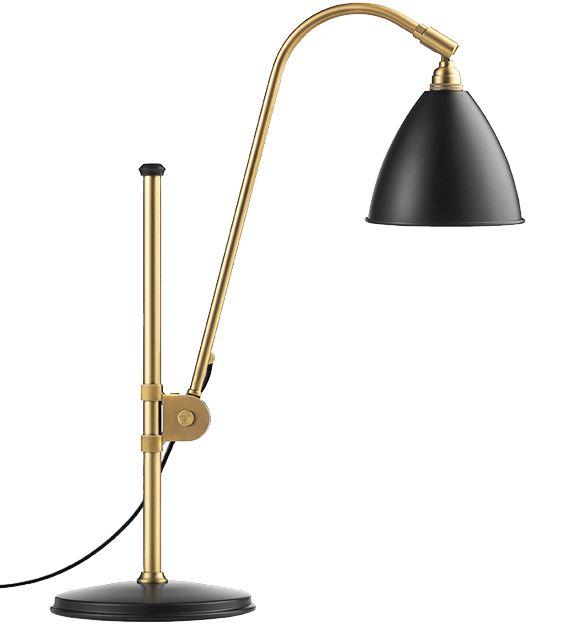 GUBI // Bestlite BL1 Table Lamp in charcoal black/brass