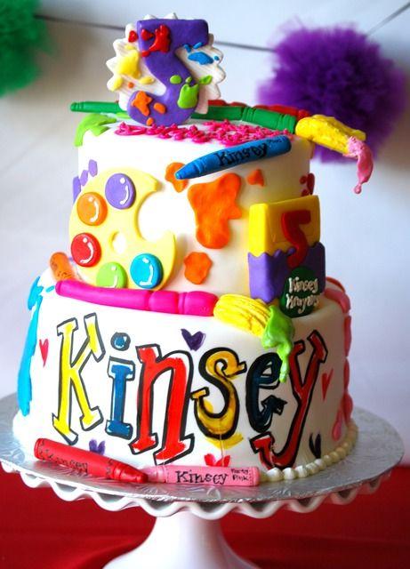 Birthday Cake Art And Craft : Birthday cake arts and crafts