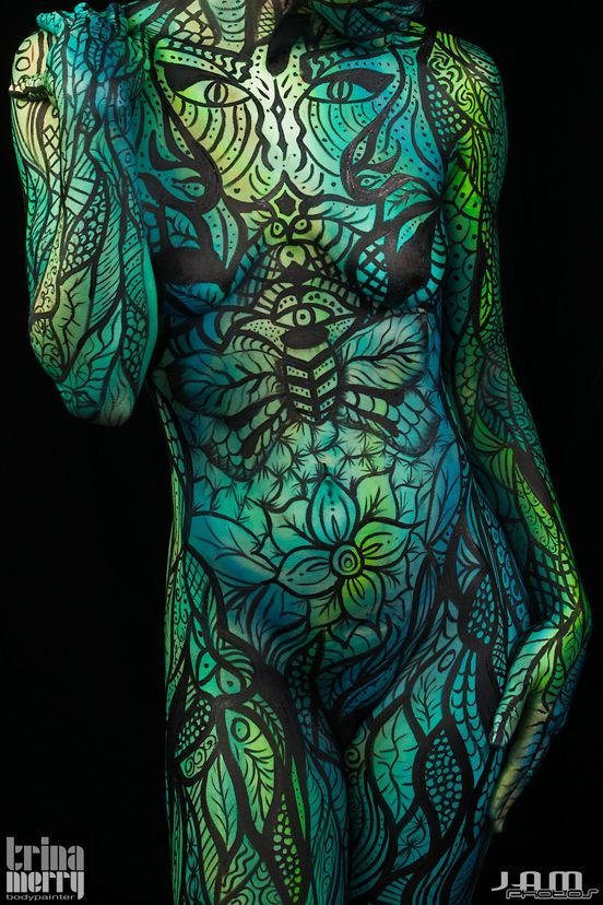 Best Bodypainting Art Images On Pinterest Amazing Body Bay - Trina merry creates amazing body art illusions ever seen