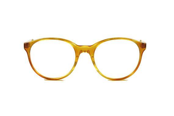 MODEL runde Brille orange transparent Panto Brille Vintage fashion opdo glasses Kunststoff Damen Herren unisex
