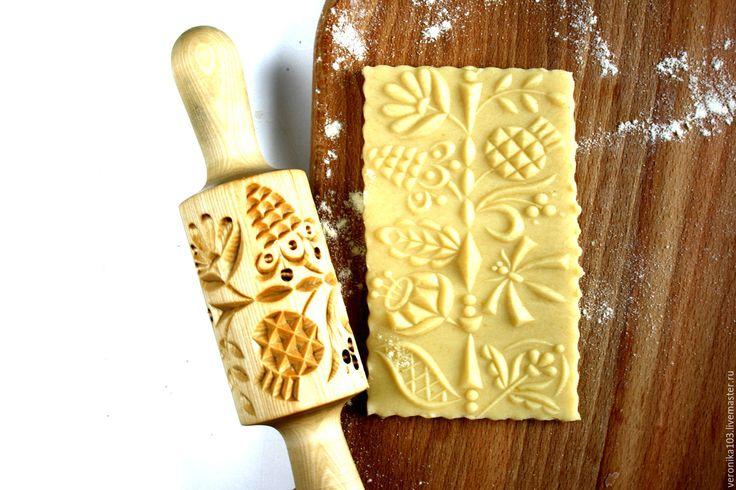 Купить 017 Скалка для пряников и печенья - бежевый, скалка, скалки, купить скалку, скалка для печенья