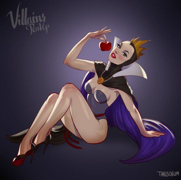 Disney Villains pin up 1 (Evil Queen - Snow White and the Seven Dwarfs)