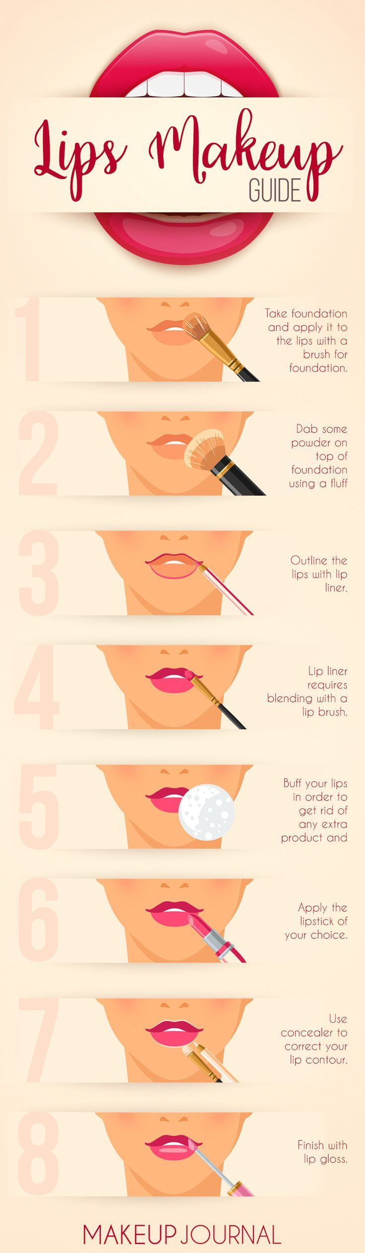 How to apply lipstick? It may have never occurred to you that you do not anything about it. Luckily, you have us at your service and we happen to know everything about the before and after processes that a perfect lipstick application consists off! Do not be shy to learn something new and useful! https://makeupjournal.com/how-to-apply-lipstick/ #makeup #makeuplover #makeupjunkie #lipstick