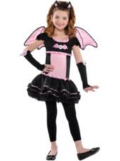 Girls Bat to the Bone Bat Costume - Party City