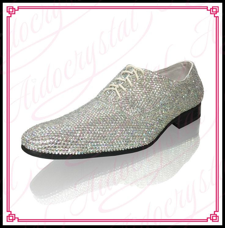 198.00$  Buy here - http://alikfs.worldwells.pw/go.php?t=32776961354 - Aidocrystal European style fashion square toe shoes silver white crystal design men dress wedding shoes