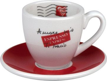 S/4 Amore Mio Espresso Cups and Saucers - traditional - Cappuccino And Espresso Cups - Waechtersbach