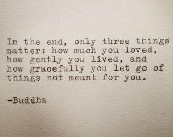 Buddha-Zitat auf Schreibmaschine getippt