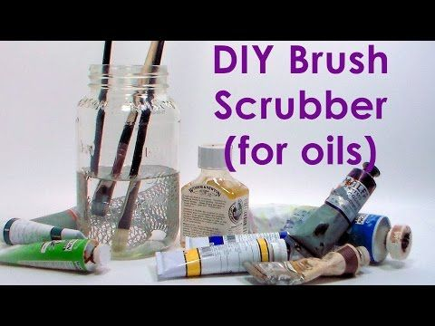 how to clean oil paint brushes while painting