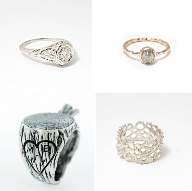 17 best images about unique wedding ring set on