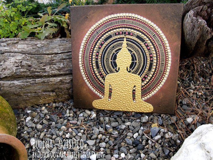 абстрактные картины искусства точка BUDDHA 02TS17CO Тесса Смитс сад