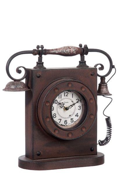 "Часы настольные ""Старый телефон"" ― Эльзас декор"
