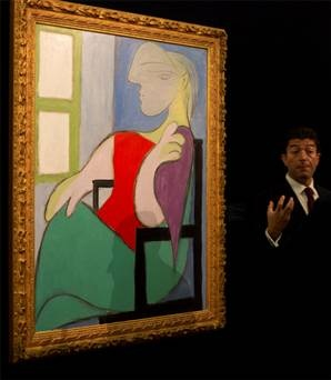 "Picasso's painting ""Woman Sitting by the window"" sold for $ 44.9 million  -- Picasso tablosuna 44.9 milyon dolar  Ünlü ressam Pablo Picasso'nun ''Pencerenin Yanında Oturan Kadın'' adlı tablosu 44.9 milyon dolara alıcı buldu."