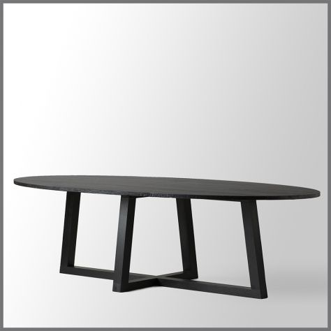BLACK STAIN TABLE - ASH WOOD 280x77