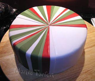 Vertical fondant stripes on a round cake tutorial