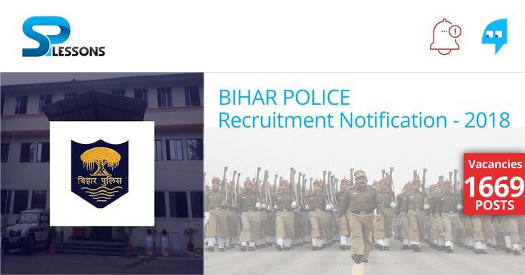 Bihar Police Recruitment - #BiharPoliceRecruitment,#BiharPoliceRecruitment2018