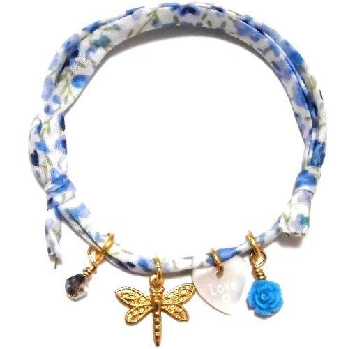 Amazon.co.jp: daniela sigurd jewelry ( ダニエラ シグルド ジュエリー )  : 【ロンドンのおしゃれを先取り! Love heart  dragonfly dice crystal  ラヴ ハート ドラゴンフライ リバティプリント ^^/】...