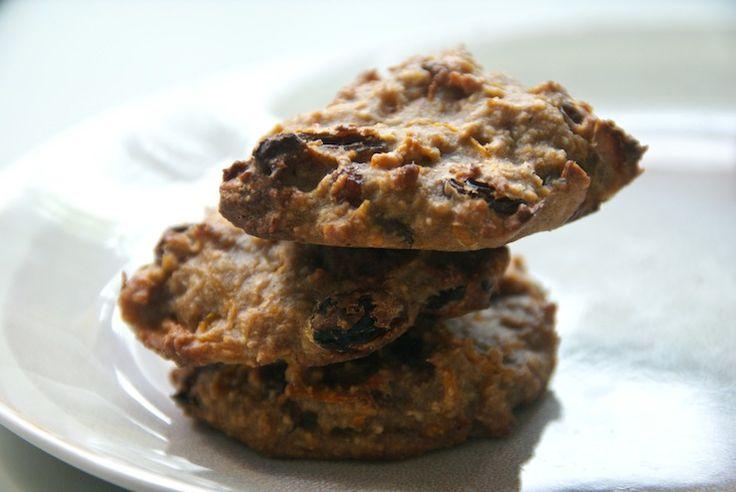 Skinny carrotcake-koekjes Havermout,  bananen, speculaaskruiden, honing, rozijnen: heerlijke koekjes.