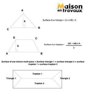 calculer la surface dune toiture - Calcul D Une Surface A Peindre