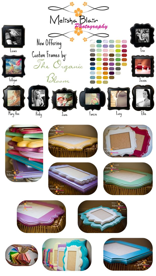 Frames from The Organic Bloom For more information on these gorgeous frames you can check out the Melisha Blair Photography fan page on Fac...