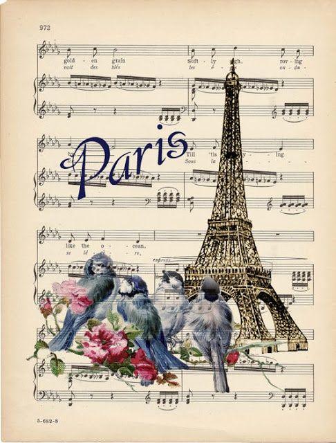Paris auf Notenpapier