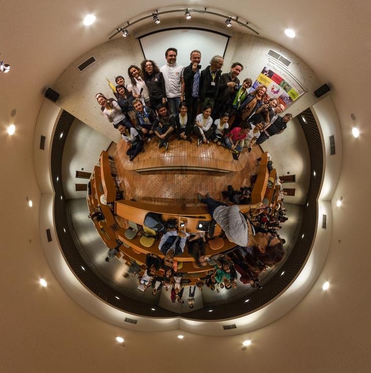 Profesores del ICP y alumnos de FotoEnlace 2013