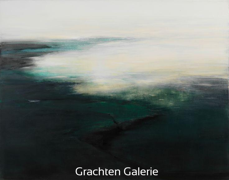 Z.t. 3   Andre Hoppzak   Schilderij   Painting   Kunst   Art   Wit   White   Blauw   Blue   Grachten Galerie