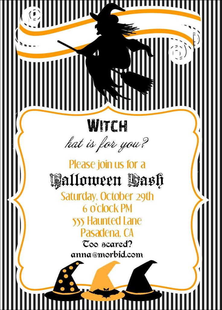 Homemade Halloween Party Invitations. Find Out How To Diy A Happy ...