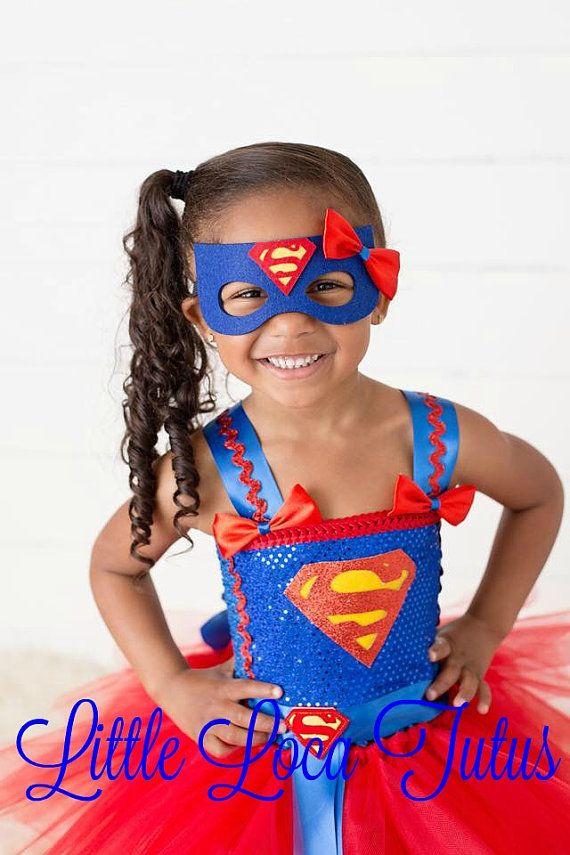 Supergirl Superman Tutu Halloween cumpleaños por LittleLocaTutus