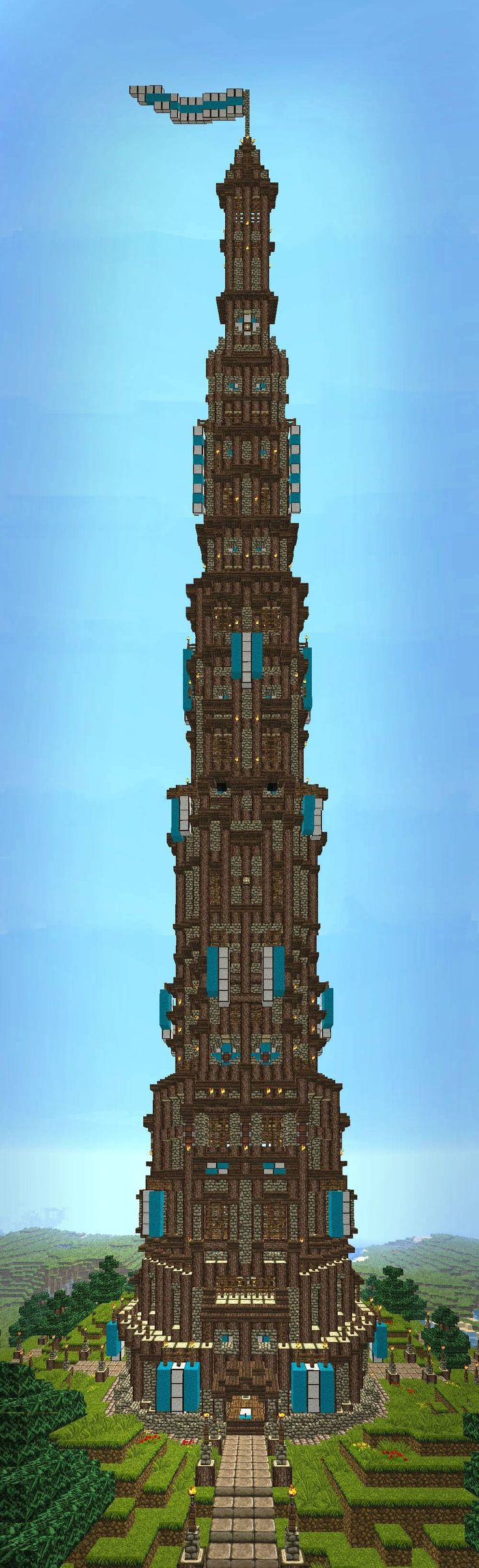 looks like a tower in minecraft                                                                                                                                                                                 More