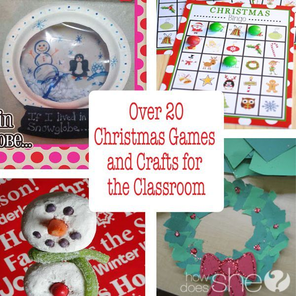 Over 20 Christmas Games and Crafts for the Classroom