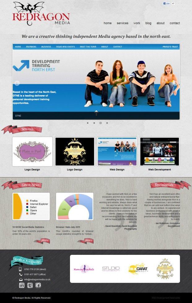 Redragon Media web design and development