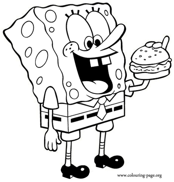 Sponge Bob Eating Doritos Colroing In: 17 Best Images About Colouring Pages On Pinterest