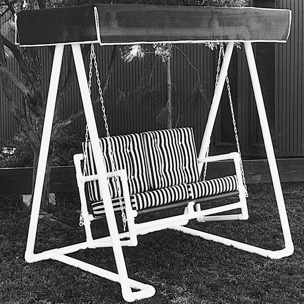 Buy Woodworking Project Paper Plan to Build PVC Lawn Swing, Plan No. 678 at Woodcraft.com
