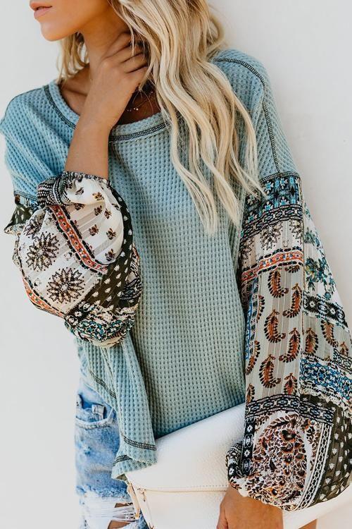 4b8d2eeb0b60e1 Love Comfort Exotic Chiffon Sleeve Knit Blouse - 4 Colors – Beetsweeti