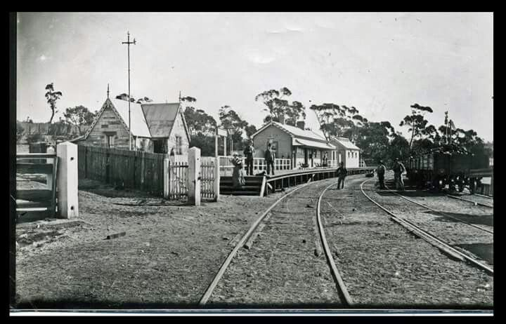 Katoomba Railway Station in the Blue Mountains region of New South Wales in 1881.