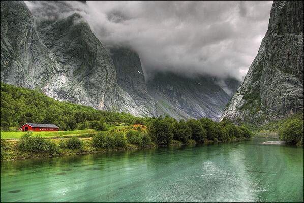 Espectacular vista desde Noruega.