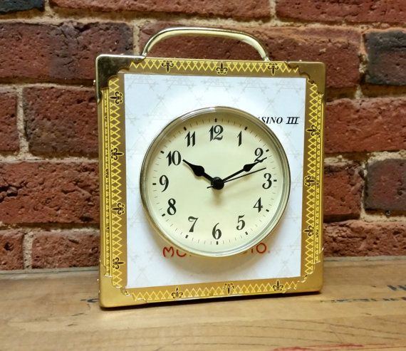 Stylish Montecristo Cigar Box Clock - Hand-made in the USA from a real cigar box!