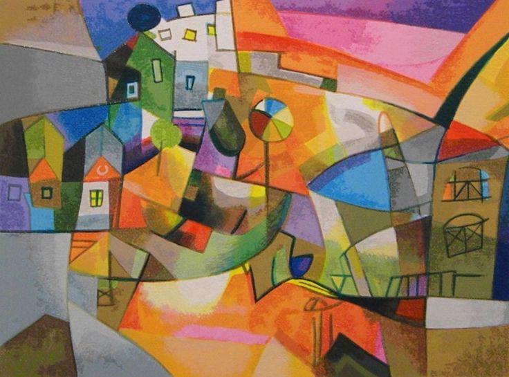 BENGEZ MILJENKO - OMBRELLO - serigrafia polimaterica a 30 colori