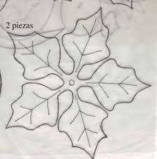 Resultado de imagen de moldes flor de pascua