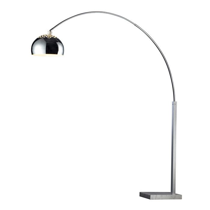 Alice floor lamp cast a warm glow in your living room or den with this steel floor lamp showcasing an arched silhouette and a marble block base