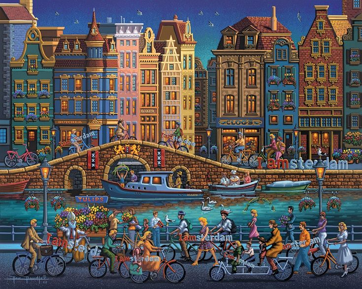 Amsterdam, by Eric Dowdle, www.dowdlefolkart.com Dutch Renaissance and Baroque architecture Bicycles of Amsterdam I Amsterdam
